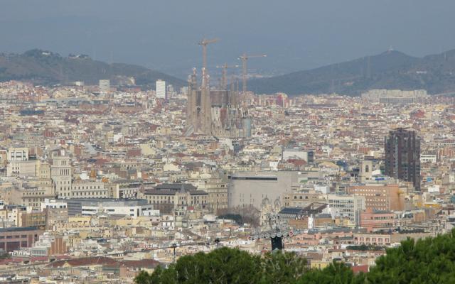 Sagrada Familia towers above the city