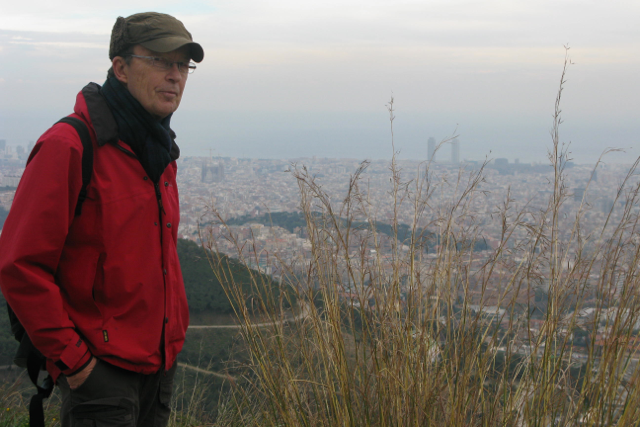 Looking down on the city from Tibidabo and admiring how far we'd walked - would have been more fun on mountain bikes.