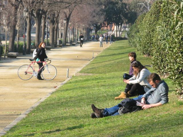 Taking time out in the Parc de la Ciutadella