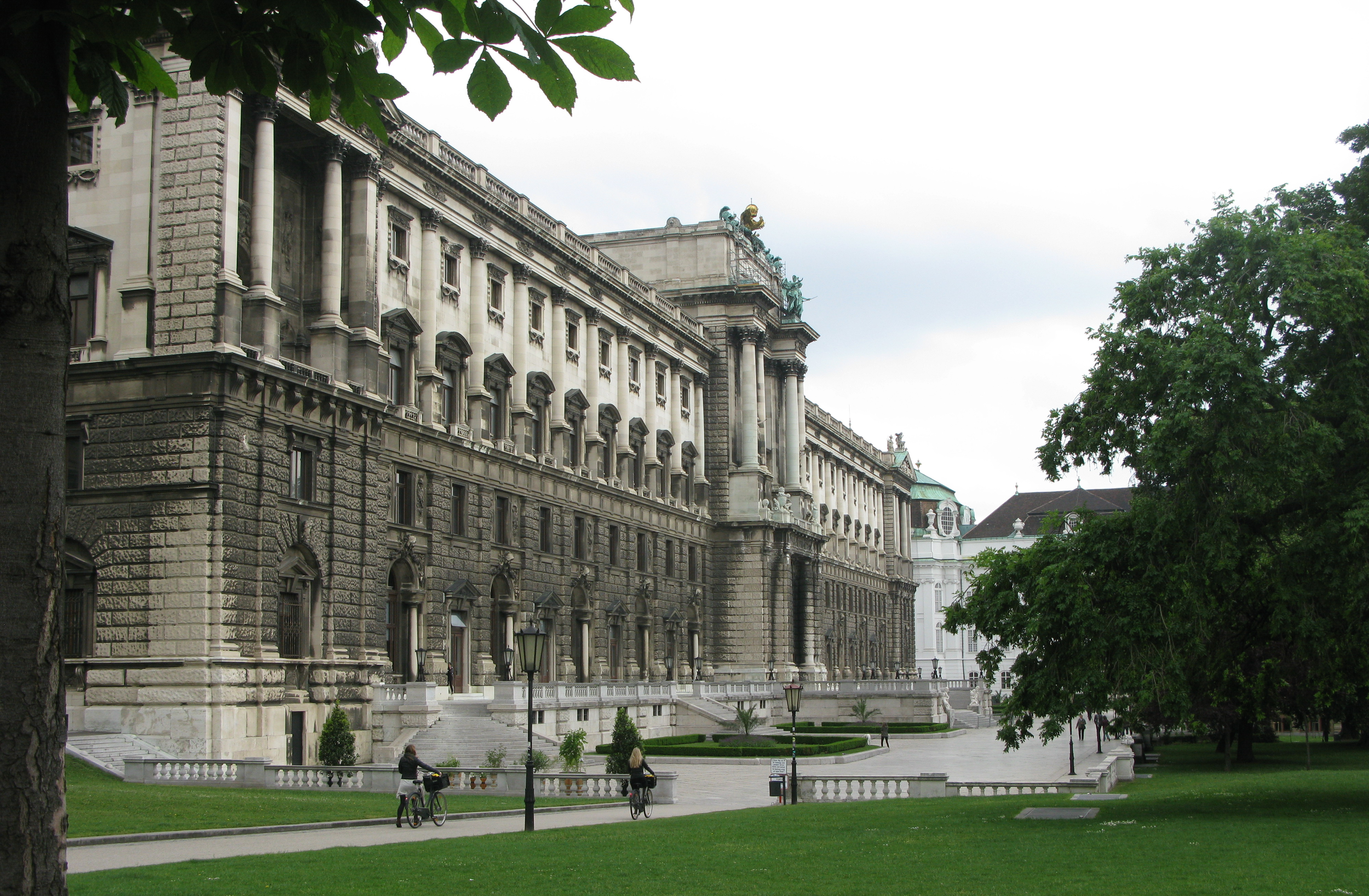 A wing of the massive Hofburg Palace