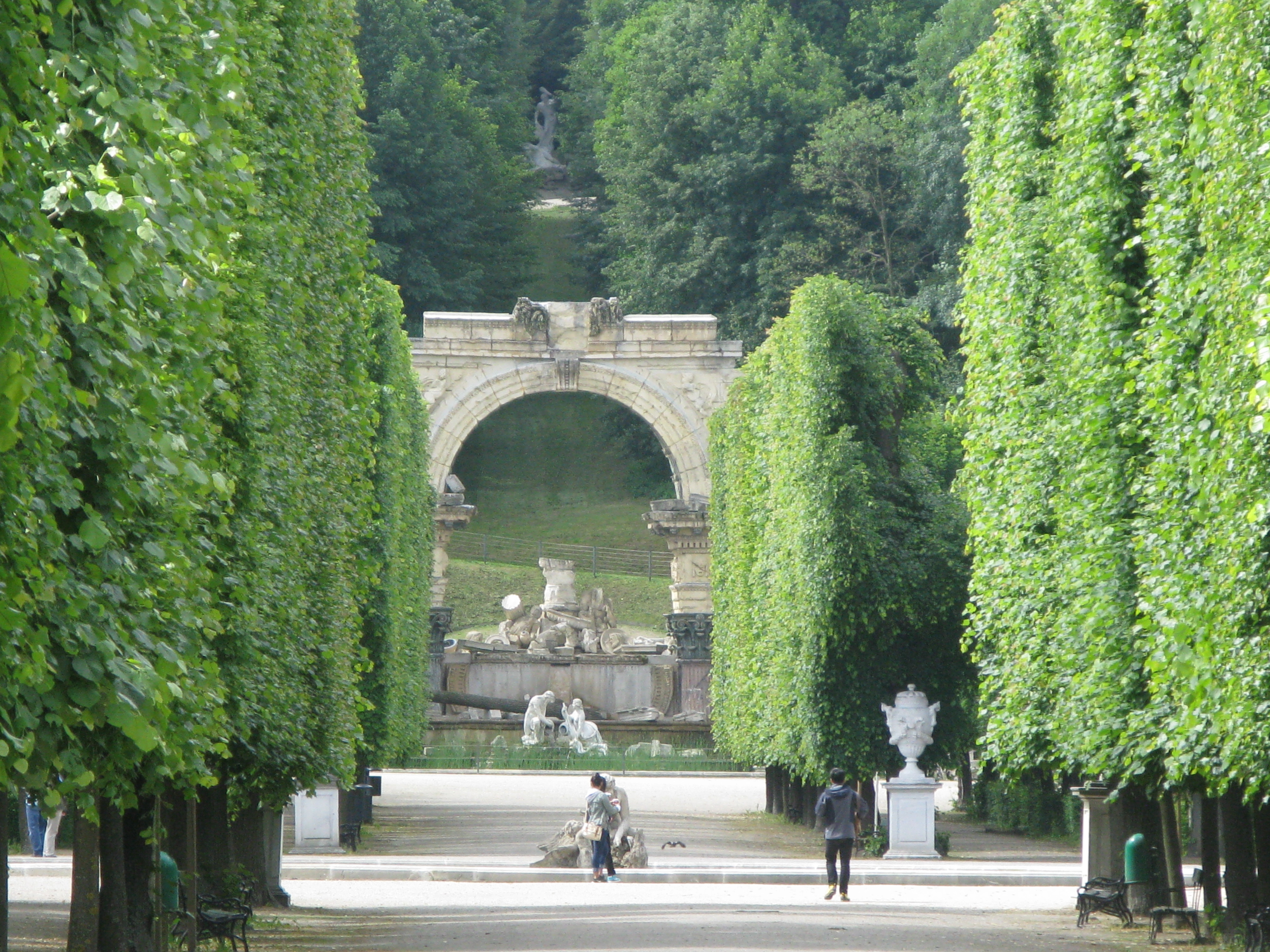 Glorious gardens and parkof the Schonbrunn Palace