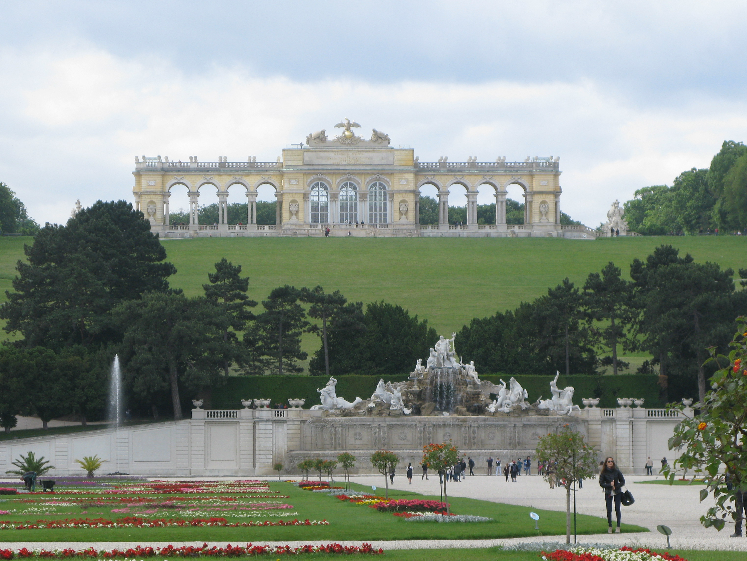 The Neptune Fountain and Gloriette in the background