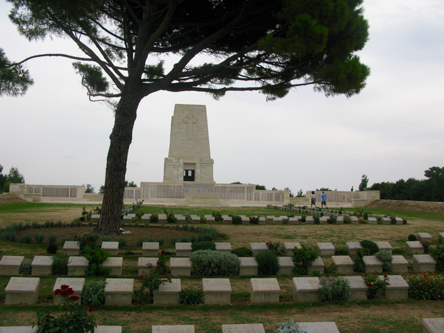 Lone Pine, the Anzac Cemetery and Memorial