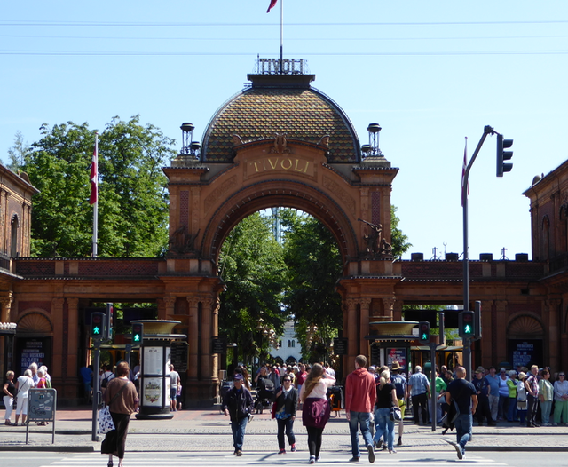 Tivoli, the 170 year old amusement park is as busy as ever.