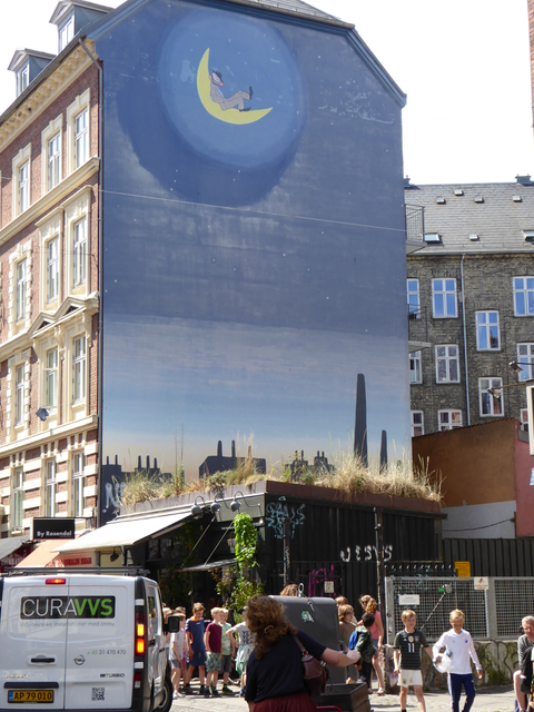 Some fun street art in the Vesterbro district