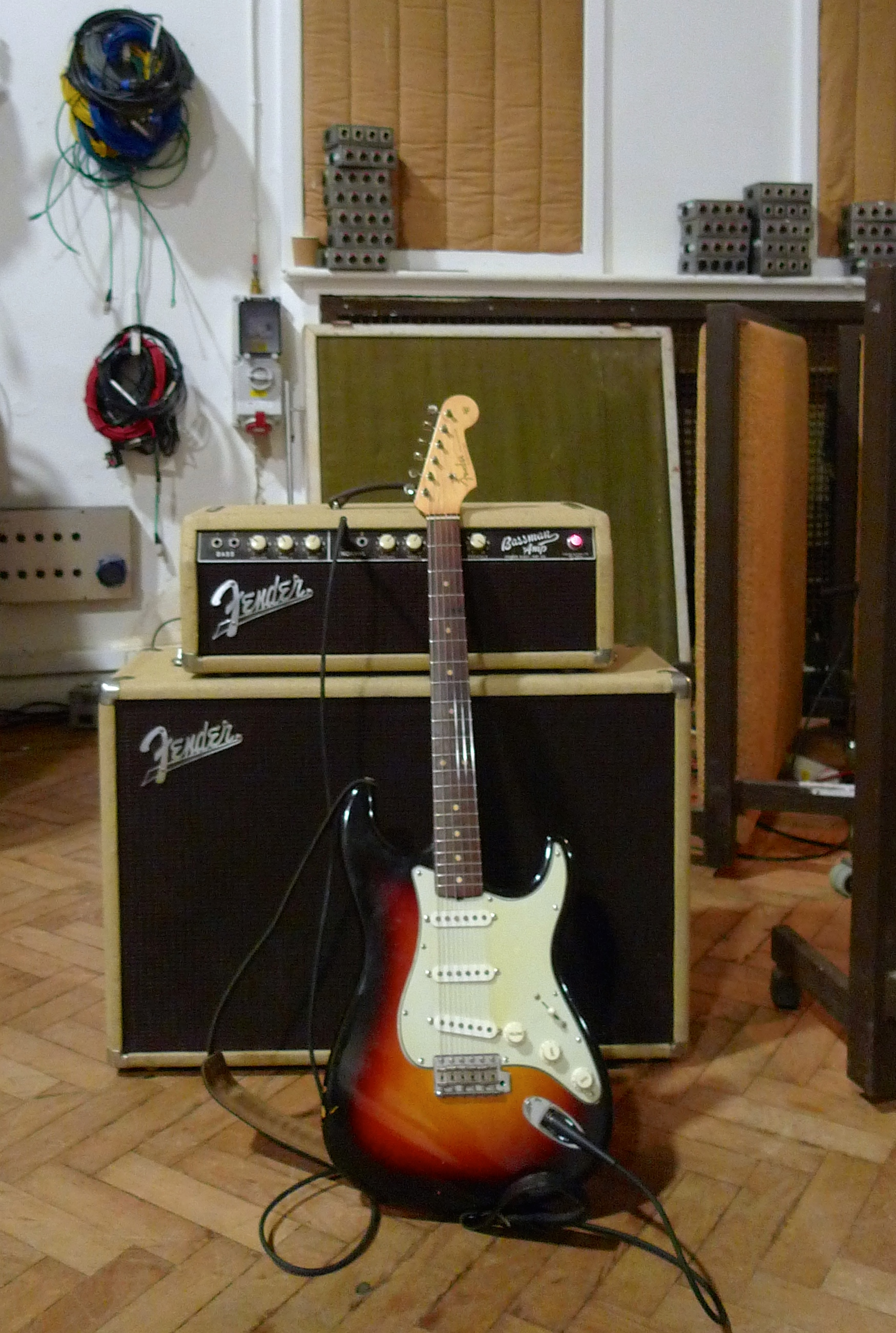 1962 Fender Bassman and Stratocaster in Abbey Road's Studio 2