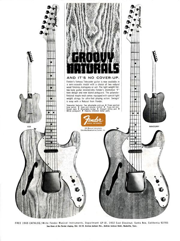 1969 Fender Groovy Naturals Ad