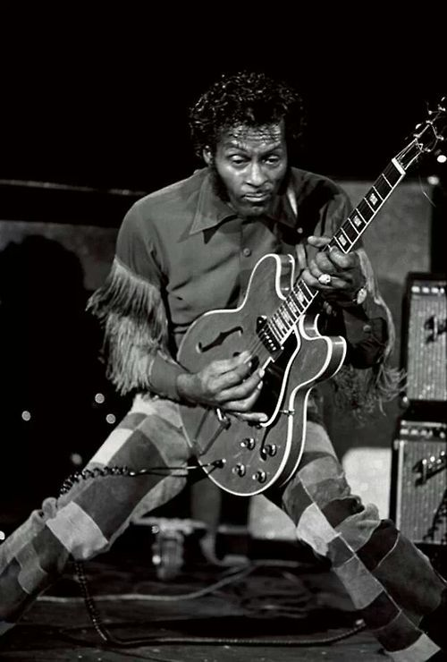 Chuck Berry with his 330 in the late 60s