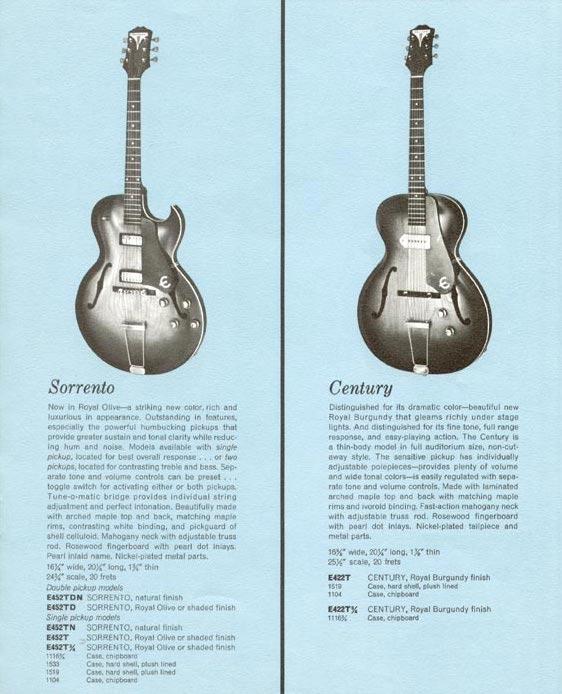 1961 Epiphone Catalog