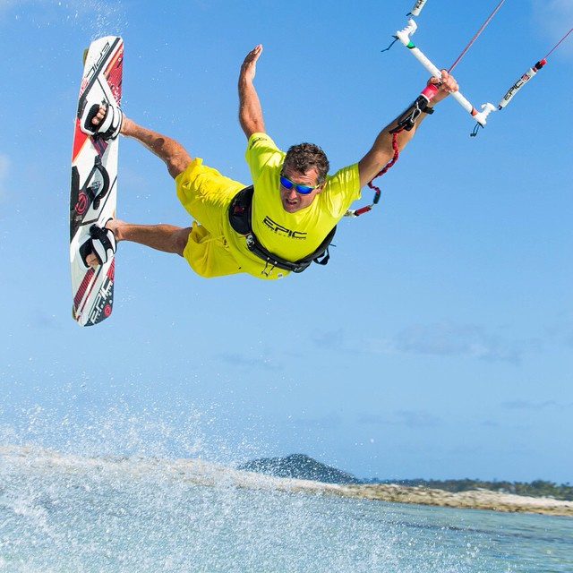 Hang on kite boarding project by Gus Schmiege- Union Island, Grenadines
