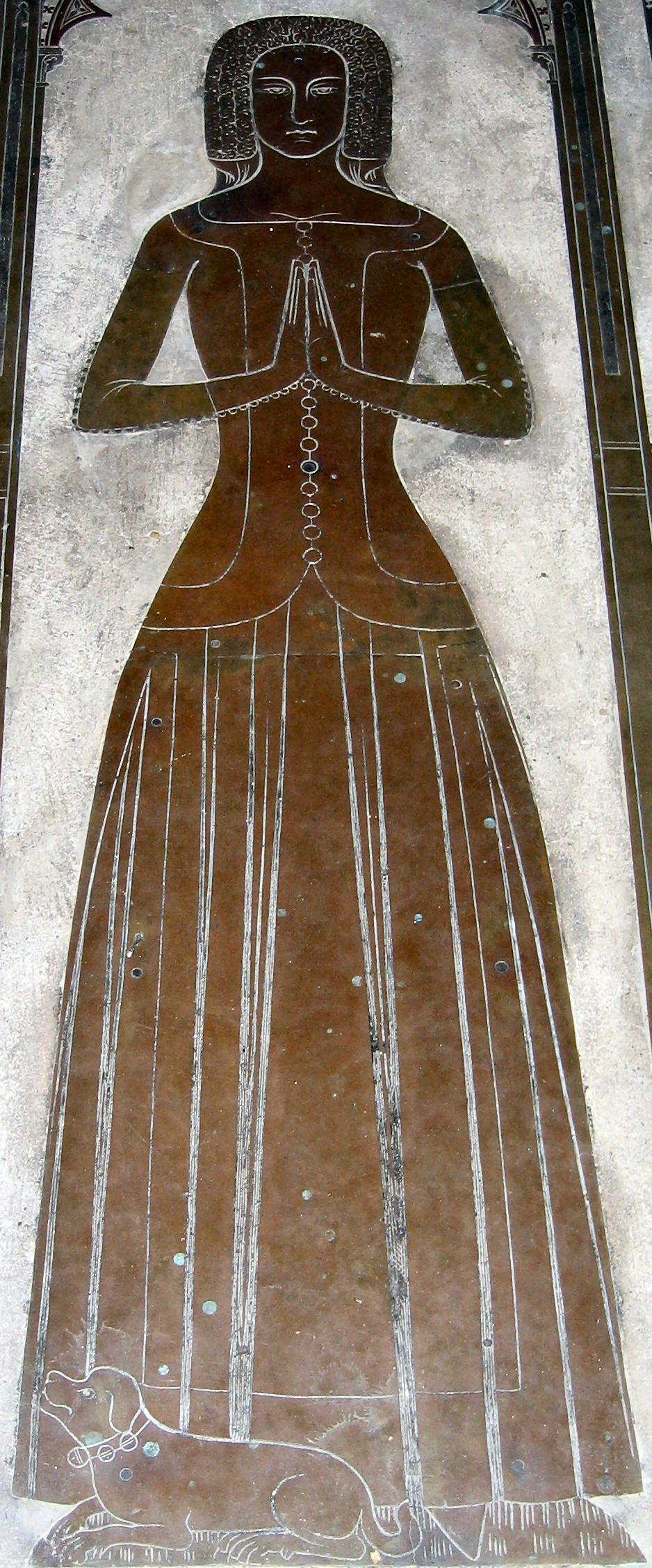 Margaret de Cobham (Cobham Church, 1375) - Kirtle & Sideless Surcote