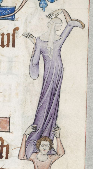 Luttrell Psalter f68r Woman's Gown