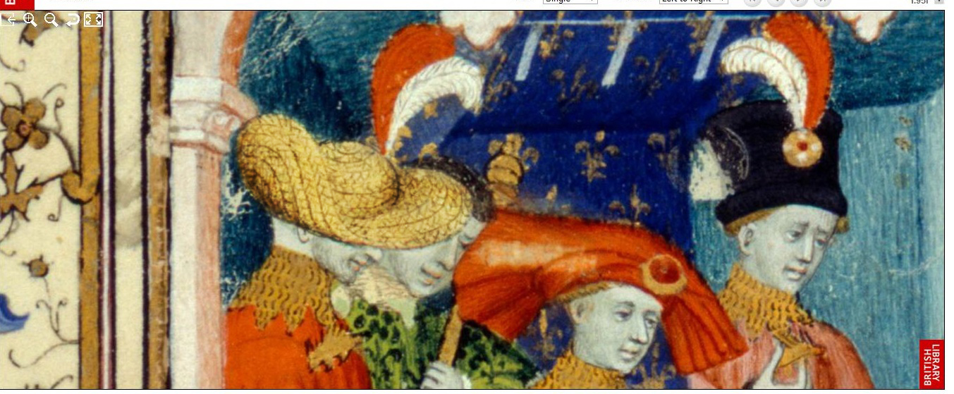 BL Harley 4431, f95r - Aristocratic straw hat