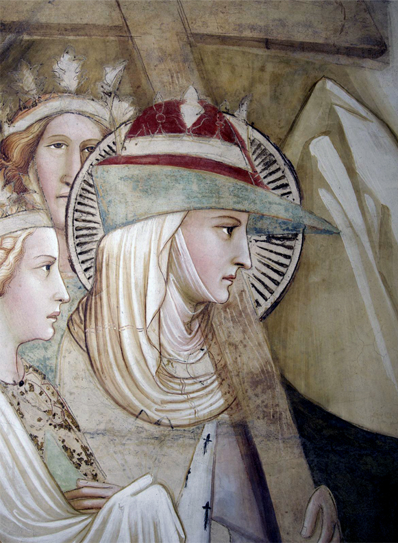 Agnolo Gaddi, Santa Croce (Florence, 1380) - Bycocket with veil & wimple