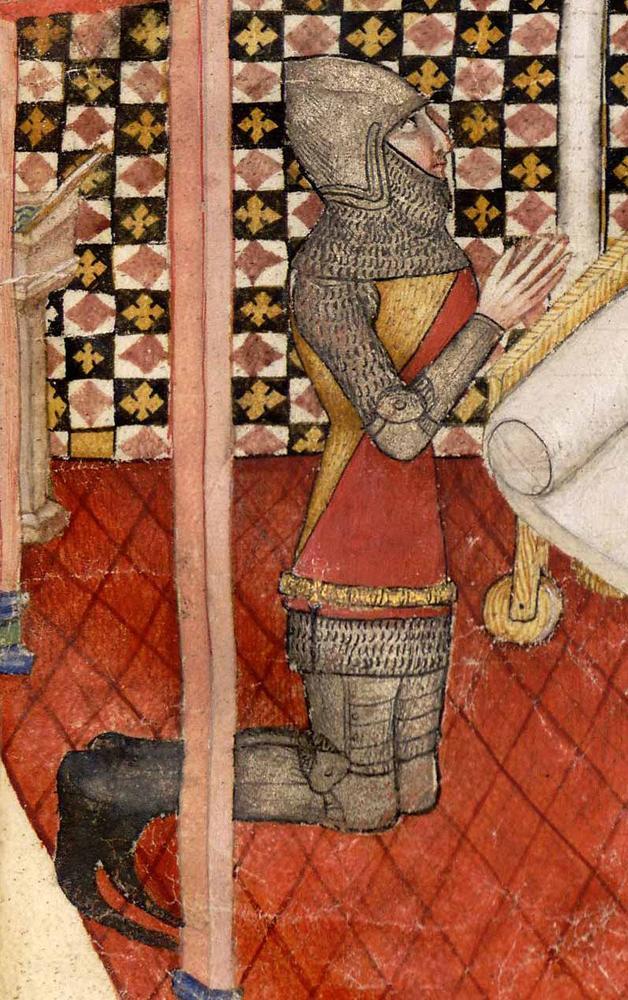 BNF FRANÇAIS 343 QUESTE DEL SAINT GRAAL / TRISTAN DE LÉONOIS , FOLIO 24,1380-1385, MILAN, ITALY