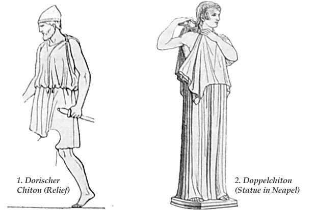 3. Man's and woman's Dorian chiton