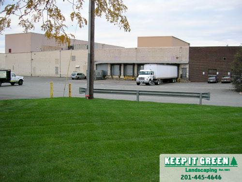 Commercial landscape maintenance.  Moonachie, NJ  07074