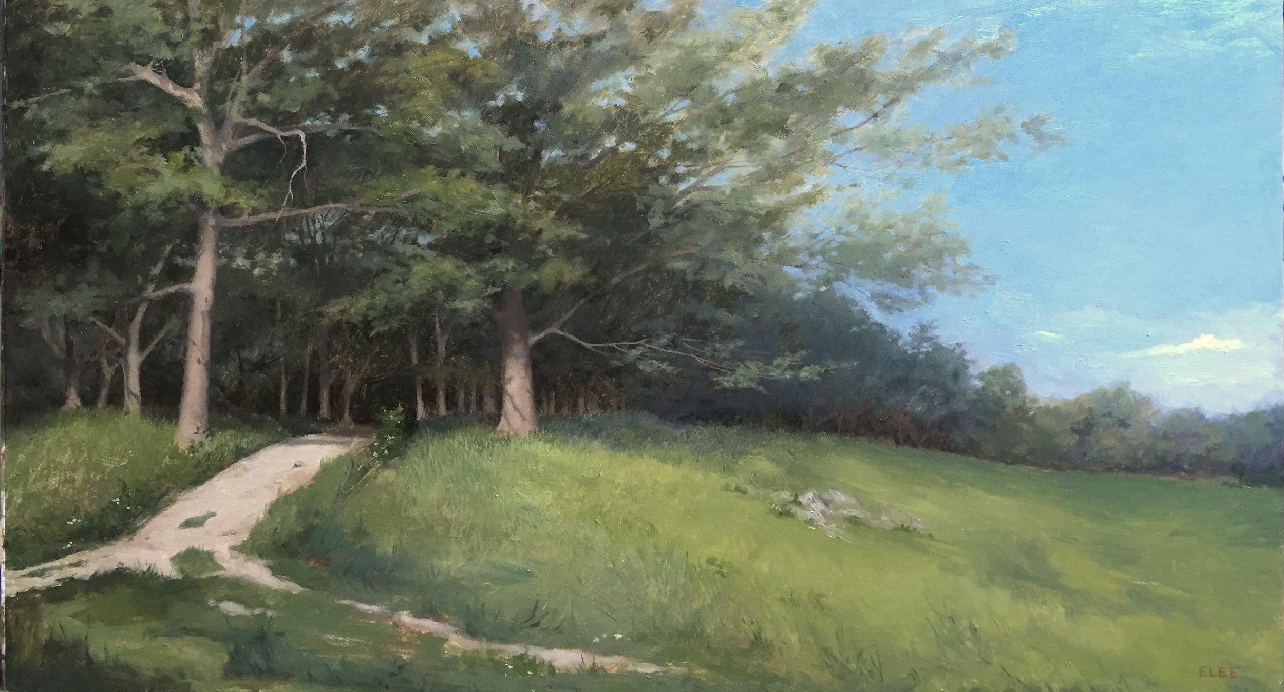 "Appleton Farms, 11""x18"", oil"