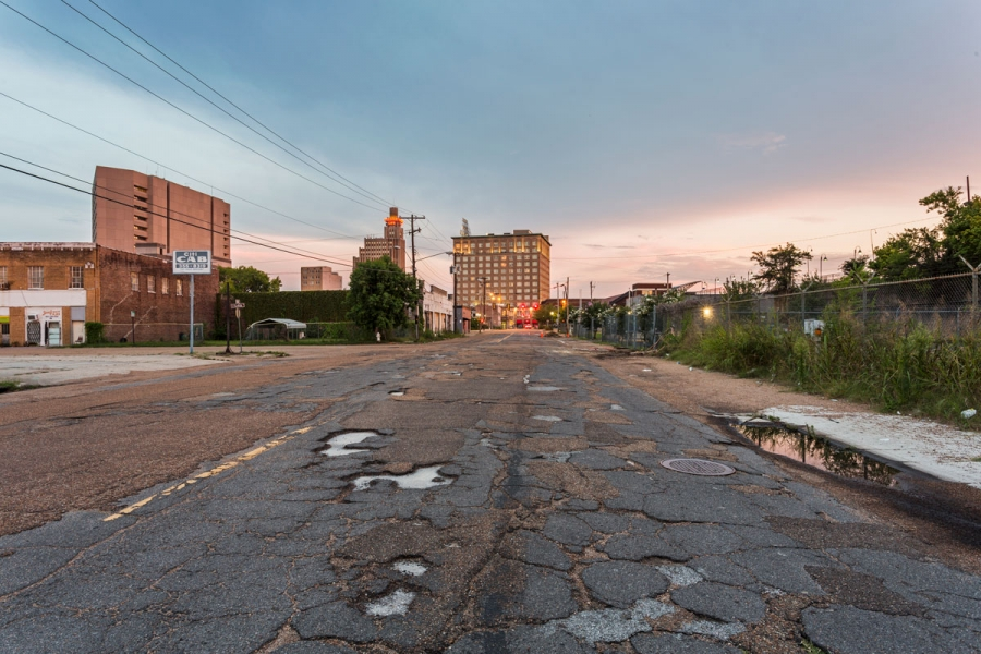 North Mill Street in downtown Jackson. Photographs by Rett Peek