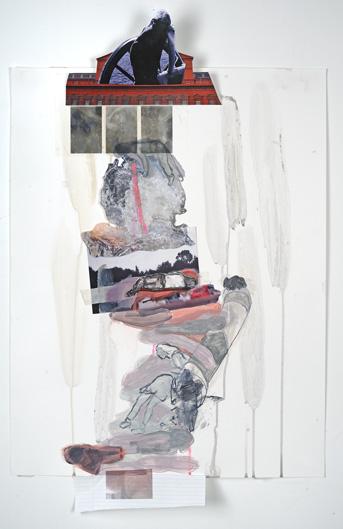 "Gone Acrylic, gouache, mixed media on Yupo paper 20"" x 26"" 2013"