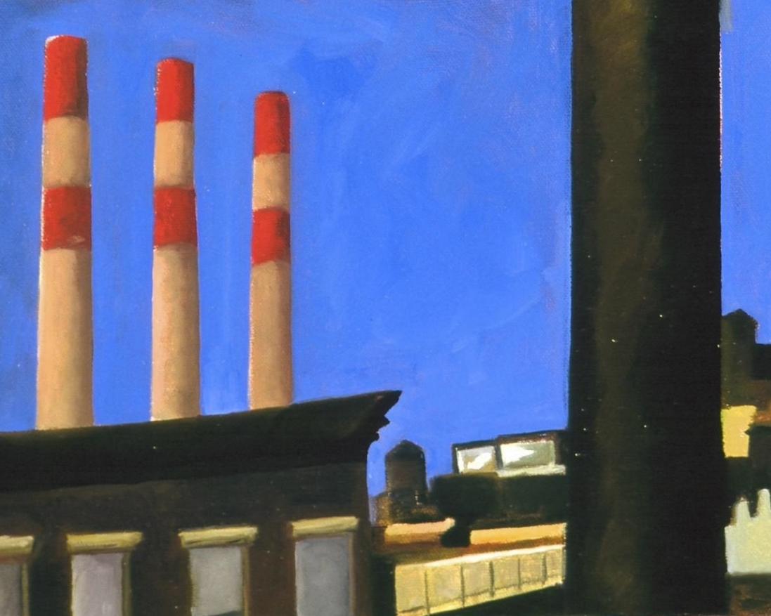 """Night Oil on canvas 12"""" x 9"""" 2000"""