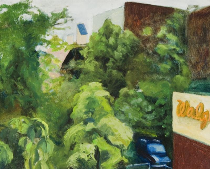 "Walgreens Oil on canvas 9"" x 12"" 1999"