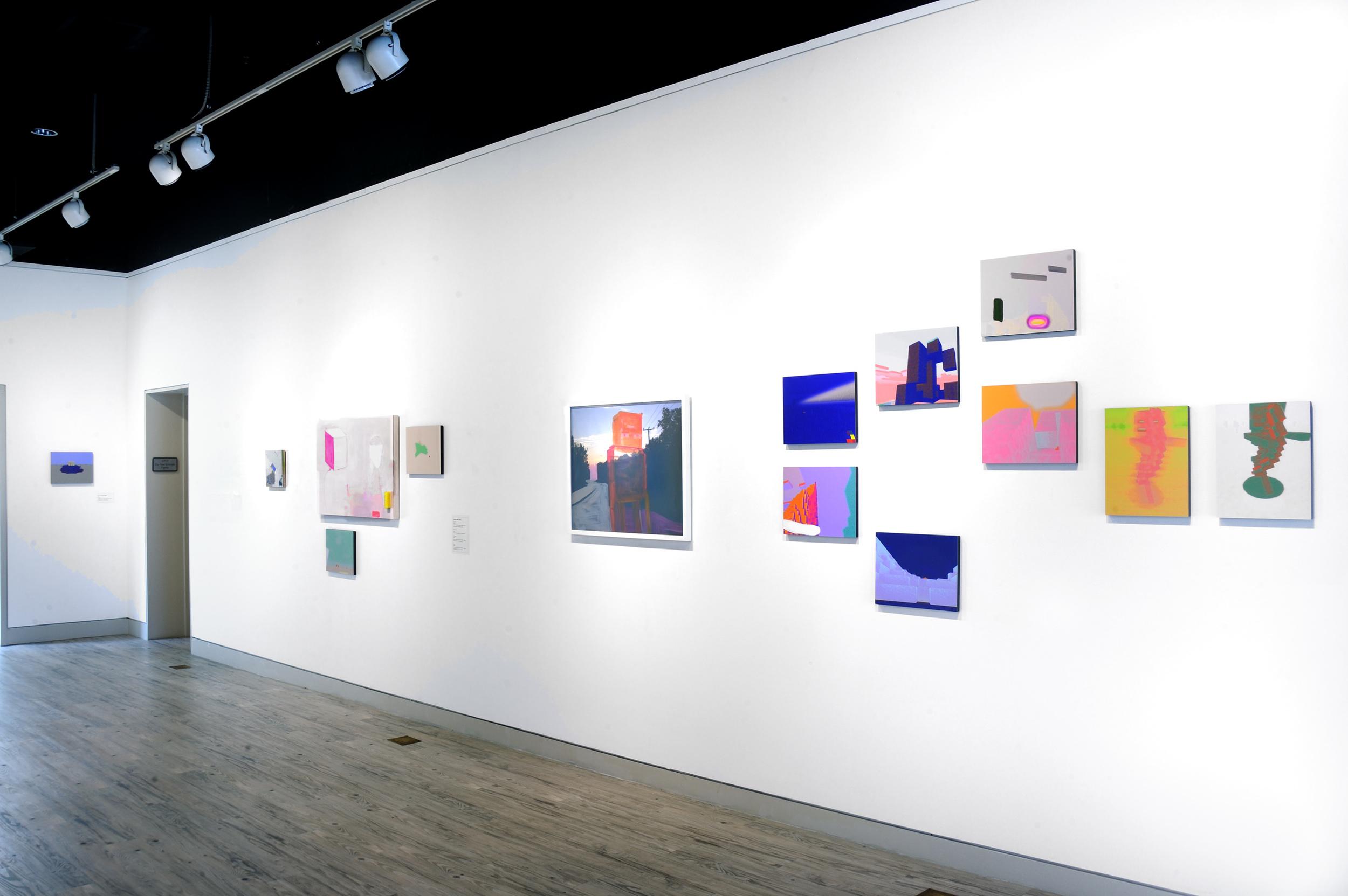 Installation view of Screenshot show Arlington Arts Center, Wyatt Gallery July 2015