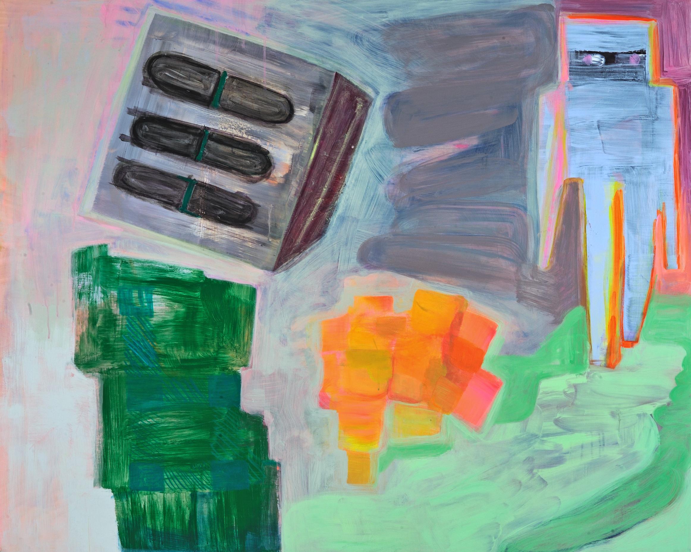 """The Precious Acrylic + gouache on wood panel 50"""" x 40"""" 2015"""