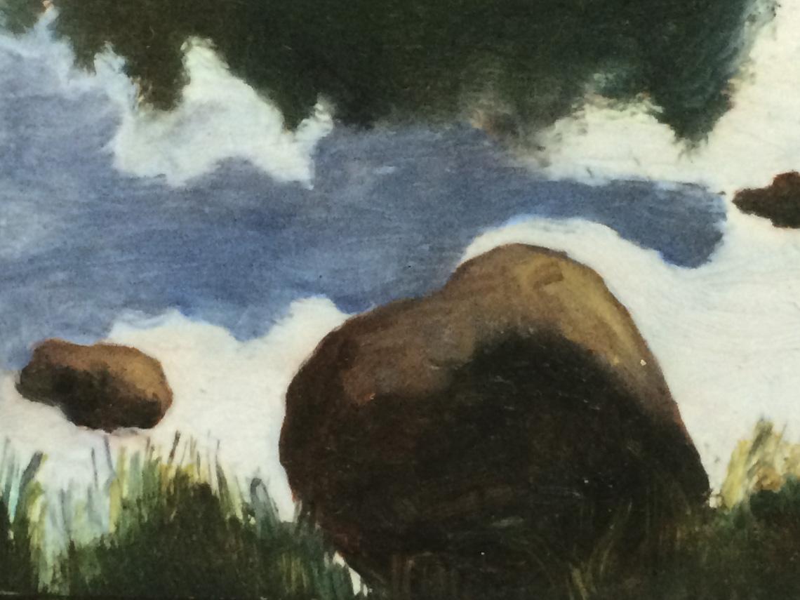 "Rock Dreams Oil on canvas 9"" x 12"""
