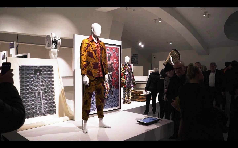 "The Ikiré Jones ""Evan"" Suit on display"