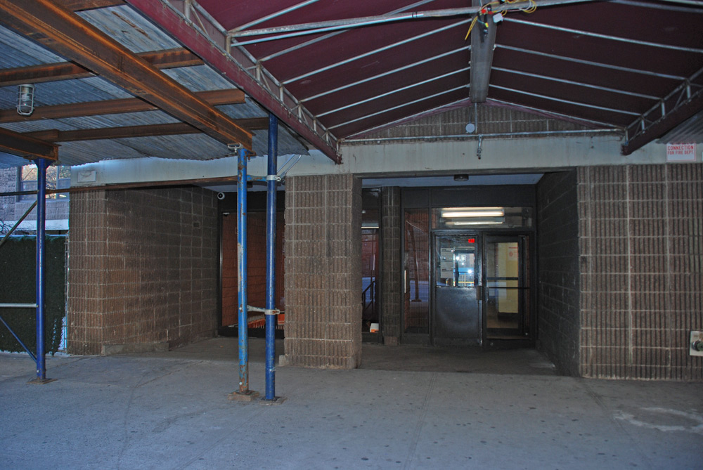 410 Facade and Canopy . Before.