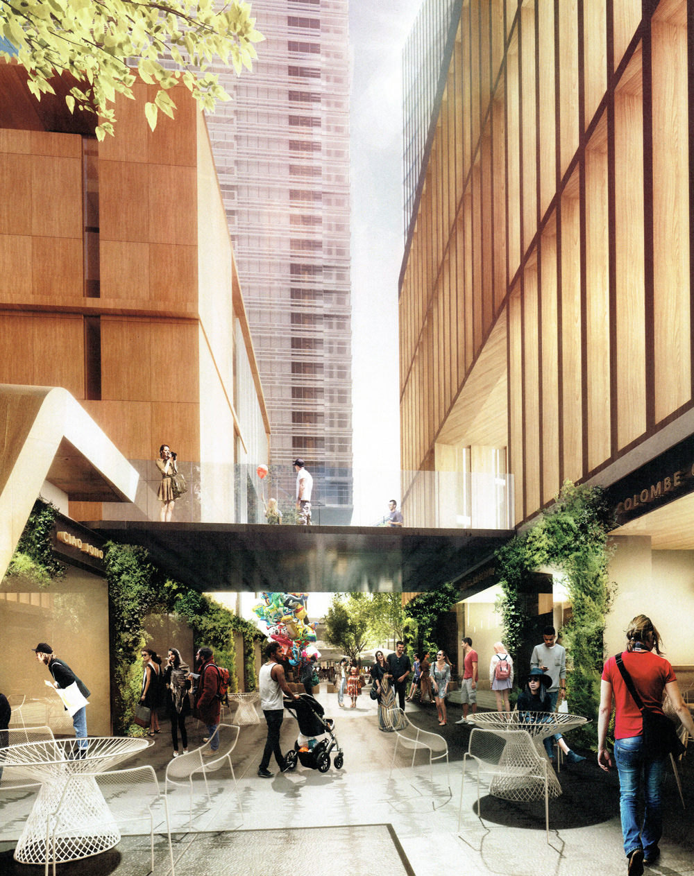 George Street Plaza - Lower Level Passageways. Image courtesy of BVN Architects.