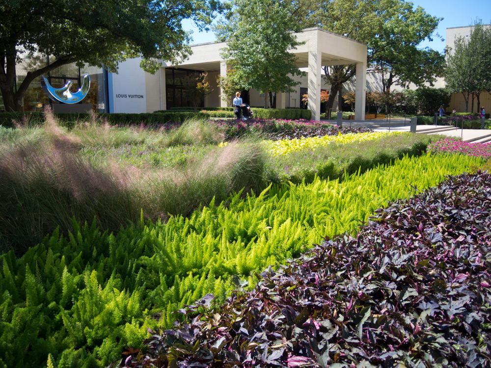 NorthPark Center - Exterior Seasonal Color Program. Dallas, TX