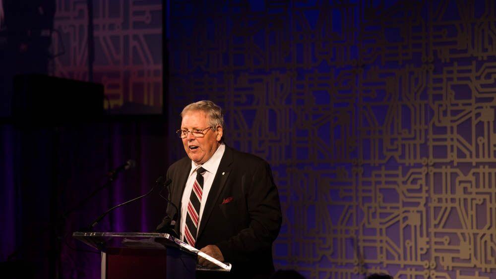 Donald K. Tarlton received the Builder Award.