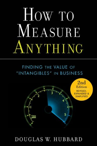 How to Measure Anything, by Douglas W. Hubbard