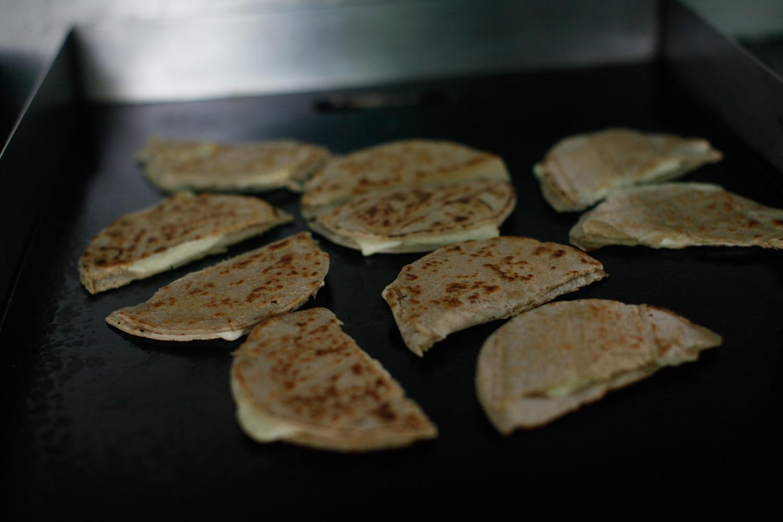 Quesadillas. Simple but delicious.