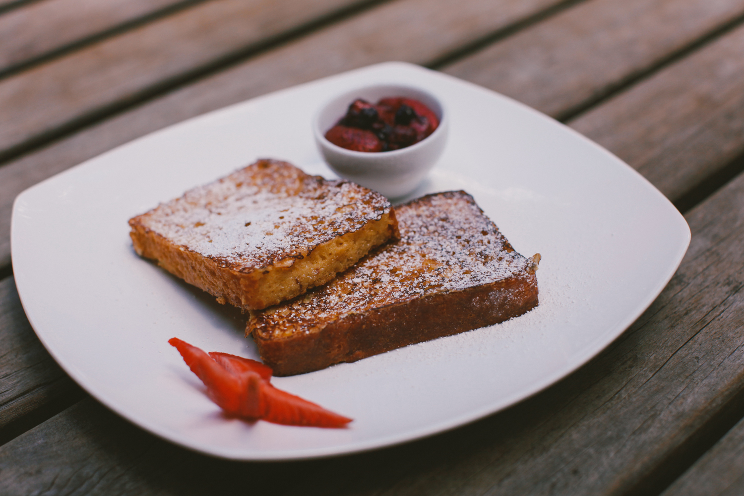French toast, yet another breakfast option.