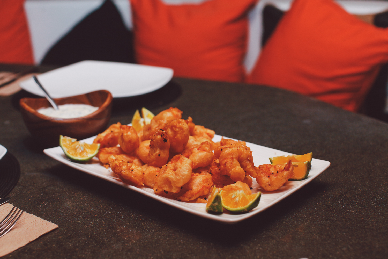 Popcorn shrimp...one of our favorite appetizers.