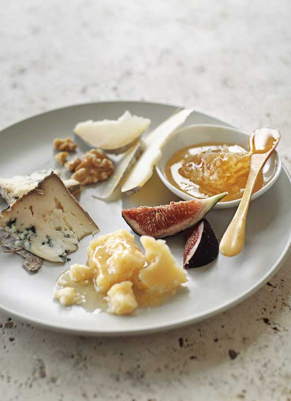 Ah, the cheese plate. Our favorite crowd-pleaser. But, mastering the art of the cheese plate is a skill. When selecting cheese plate ingredients, look for variety in texture, flavor, and color. Most cheeses come in four basic categories: aged, soft, firm, or blue. Choose one from each group as a starting point. But what about the accompaniments? Try honey, a fig compote, dates, peppered salami or salty nuts along with artisan bread and crackers. Crack open a bottle of wine and nosh the afternoon or evening away.