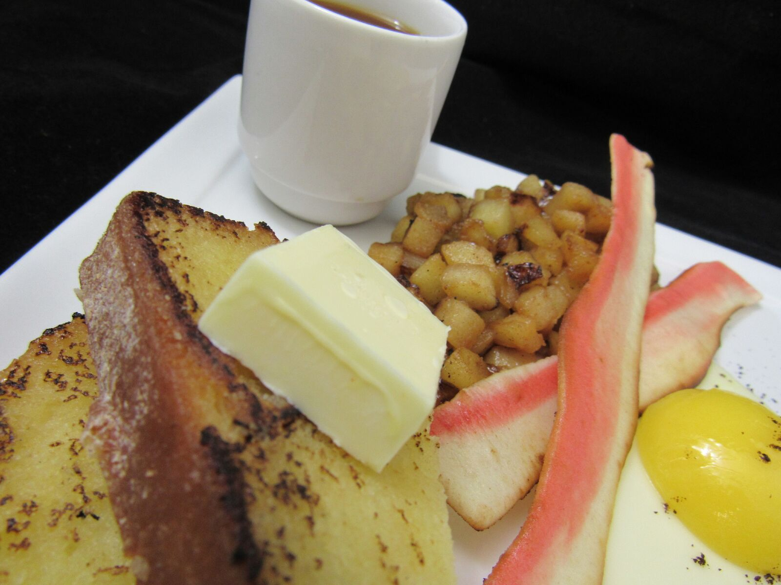 "Vanilla Pound Cake ""Toast"" with Crème Brulée ""Butter"""