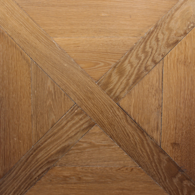Hand-Crafted, Aged Pine Parquet