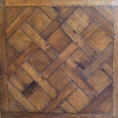 Hand-Crafted, Hand-Colored Parquet Versailles, Tung Oil Finish