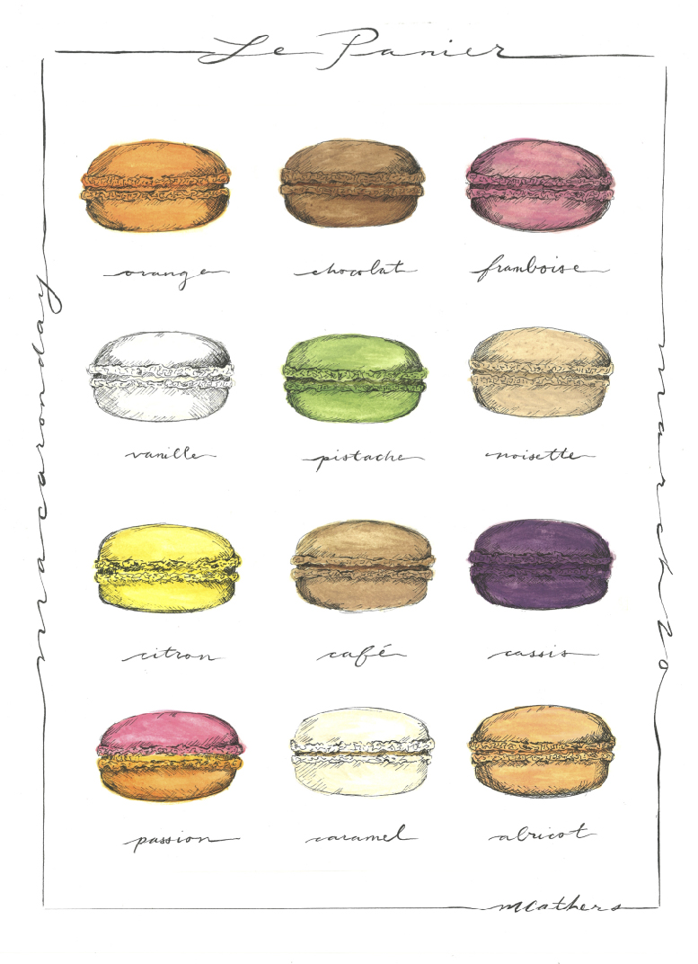 Our classic macaron poster is available for sale!