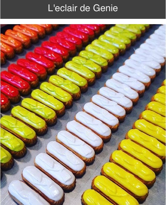 L'eclair de Genie is a world of beautiful and tasty éclairs in more flavors than one can imagine. Their display cases take your breath away. Photo courtesy: L'eclair de Genie