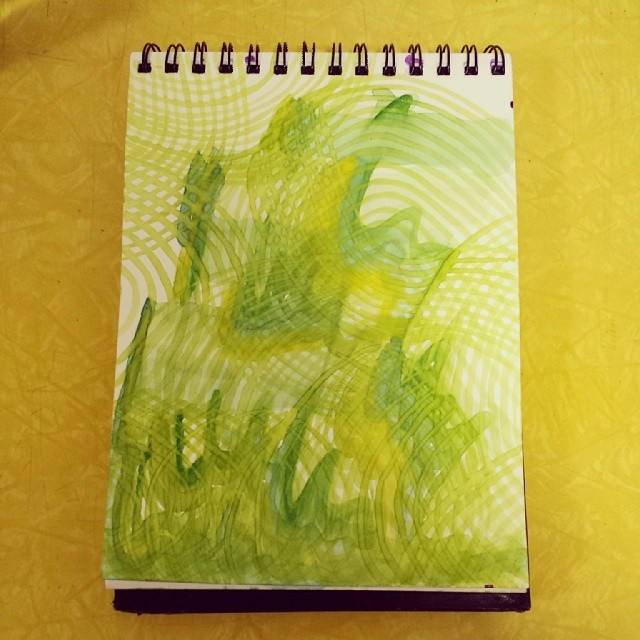Untitled, watercolor, New York, 5/7/2014