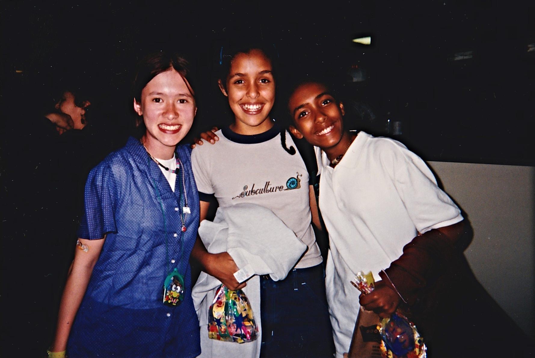 My 13th bowling birthday party: Me, Tak & Jazzy J (June 1995)
