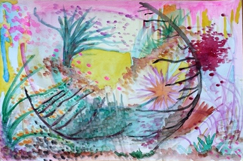 """Little Lentil Landscapes III, Watercolor, 12"""" x 16"""" May 2014"""