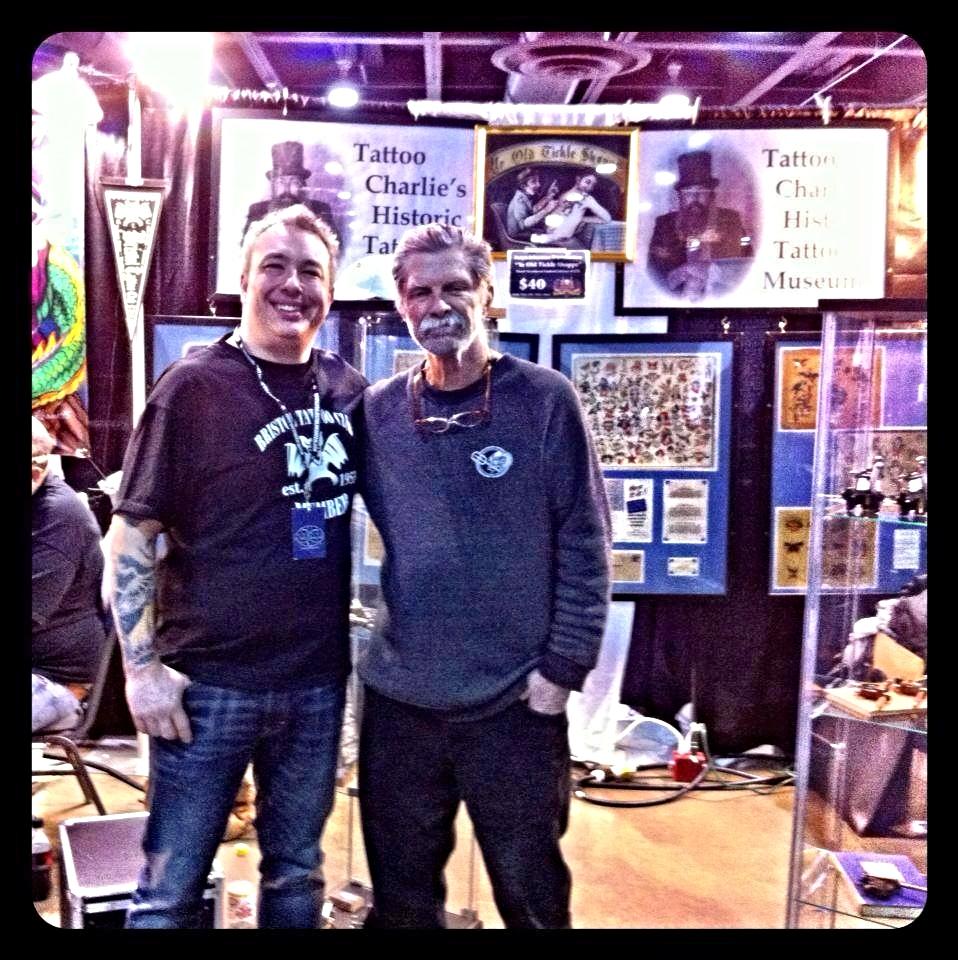 Buddy and tattoo legend Zeke Owen, Philadelphia Tattoo Arts Festival, 2013