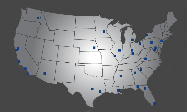 Locations of other chapters of Alpha Rho Chi nationwide.