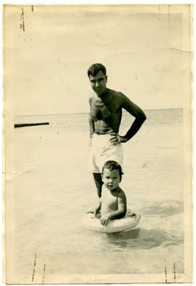 Waikiki with Dad |  1950